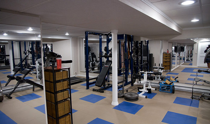 Basement home gym ideas designs total finishing