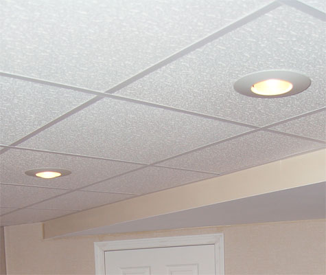 Basement ceiling tiles drop ceilings dropped ceilings accommodate a variety of lighting fixtures mozeypictures Images