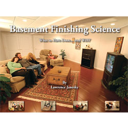 Our full color basement finishing book