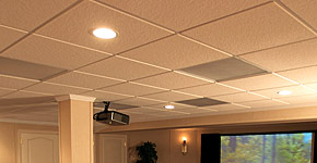 Ceiling tiles for basement finishing