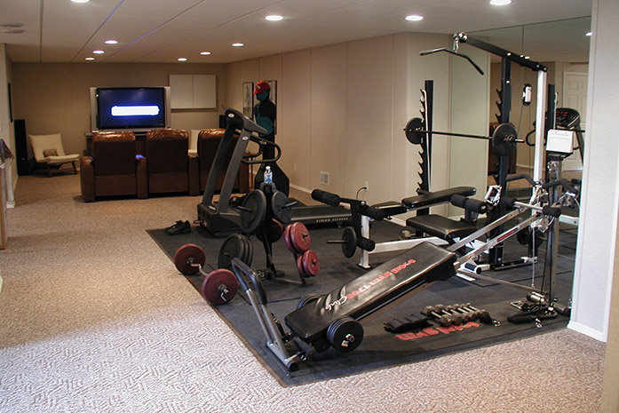 our basement finishing systems make it easy to a home gym