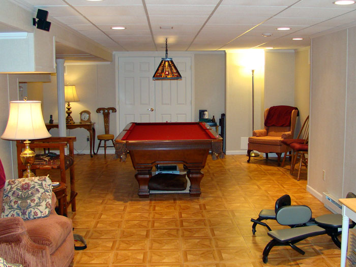 A finished basement billiards room. & Total Basement Finishing: Why Weu0027re The Best! | Basement Finishing ...