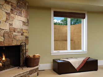 EverLast™ basement windows come in several styles, including casements. This one swings out for easy egress via an egress window well.