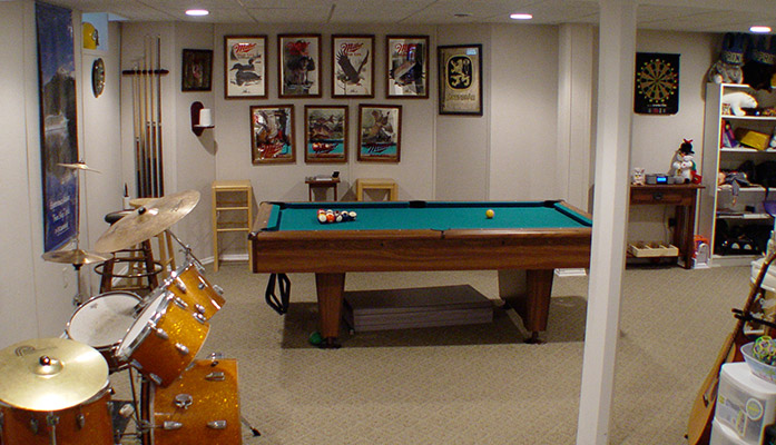 Example Basement Game Room Setups