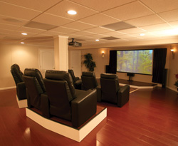 Incroyable Basement Finishing Ideas   Home Theater