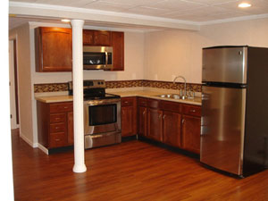 Basement in law apartments ideas designs total for Does a walkout basement cost more