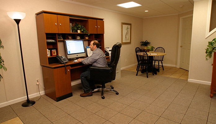 ... Work at home in the comfort of your own basement office Basement  finishing ideas ...