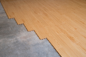 Faux-wood plank flooring & Basement Flooring Options: Basement Floor Finishing u0026 Subflooring