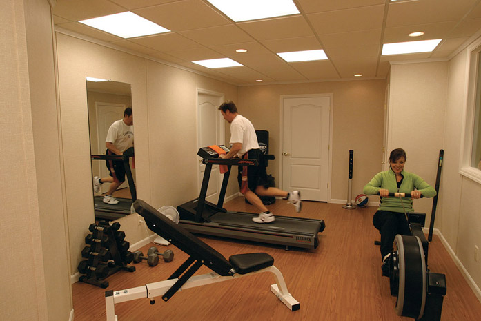 Charming Examples Of Basement Home Gyms