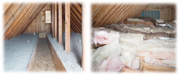 Cellulose insulation versus fiberglass batt insulation
