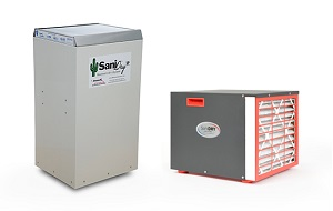Side-by-side view of SaniDry XP & Sedona dehumidifiers