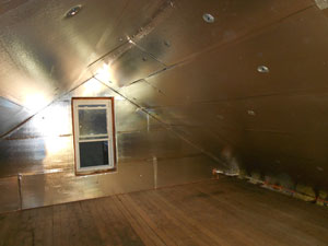 Attic After SuperAttic™ has been installed