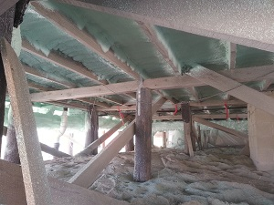 Spray Foam in the crawl space in Dover