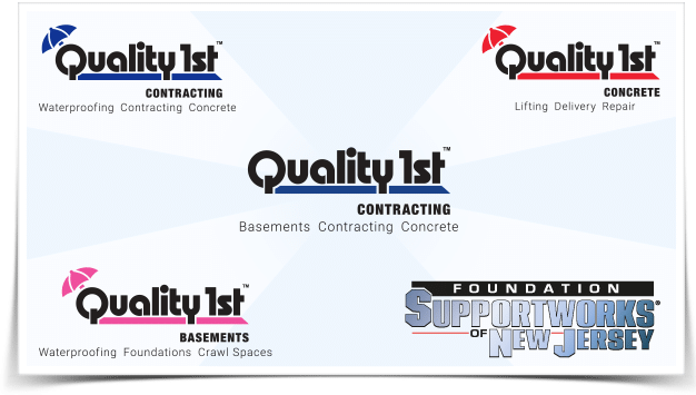 The Quality 1st Companies: Quality 1st Contracting, Quality Concrete, Quality 1st Basement Systems, Foundation Supportworks New Jersey