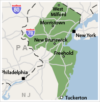 Our New Jersey Service Area