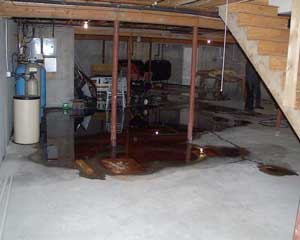 Oil tank leak in basement
