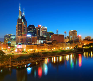 Nashville, TN, at Night