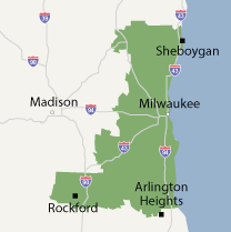 Our Wisconsin and Illinois Service Area