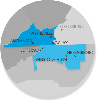 Our Western North Carolina & Southwestern Virginia Service Area