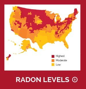 Radon levels across the United States