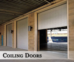 Coiling commercial doors in
