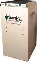 SaniDry™ dehumidifier and 35-pint dehumidifier