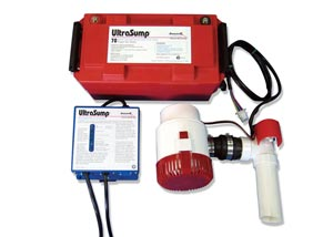 a battery backup sump pump system