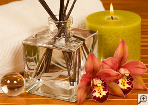 Candles, reed diffusers, and other scented items.