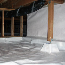 A properly installed crawl space liner