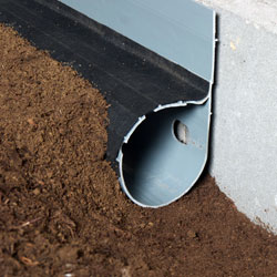 a crawl space drain pipe system