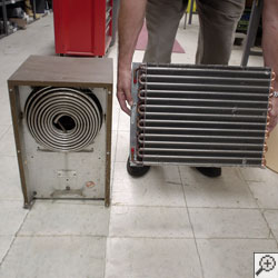 Comparison of two dehumidifier cold coils.