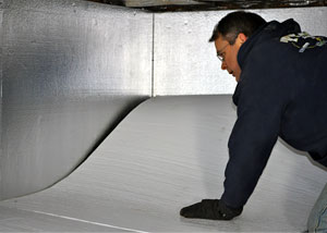an insulated crawl space floor