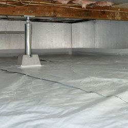 a dry, sealed crawl space