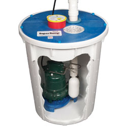 A cutaway of the SuperSump® Basement Sump Pump.