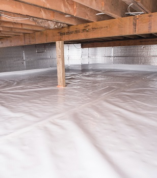 crawl space vapor barrier in Modesto installed by our contractors