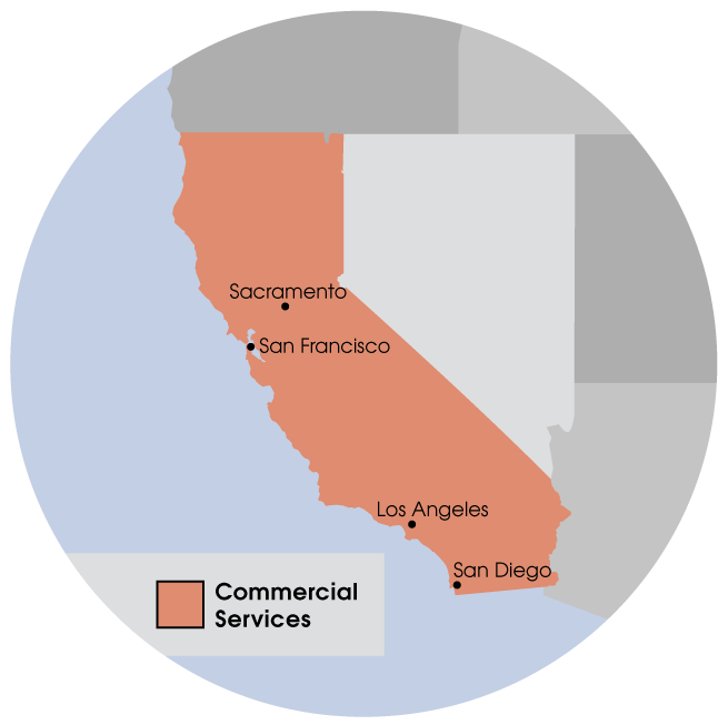 Commercial Services in the Bay Area & Greater Sacramento