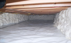 A clean, insulated crawl space in Squamish, British Columbia