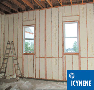 Icynene spray foam insulation installed in Victoria, British Columbia