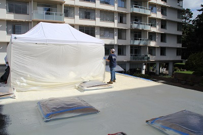 spray foam tent