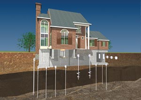 a diagram of how a foundation is repaired in Topeka