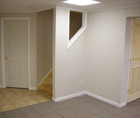 Refinished basement walls in Eugene, OR