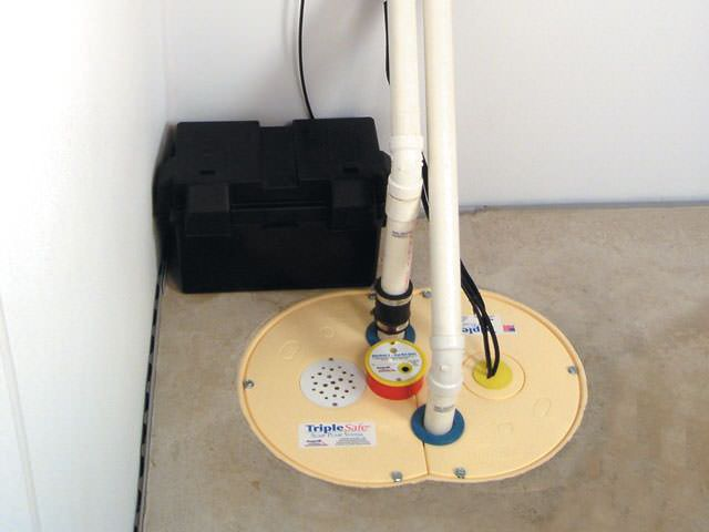 TripleSafe sump pump installed in East York, ON