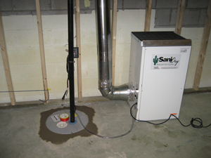 Bowmanville basement sump pump and dehumidifier