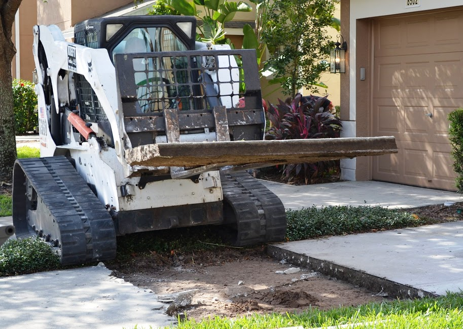 Concrete removal services in Central Florida