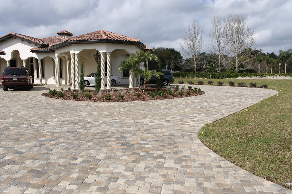 Concrete Pavers Installed For Patios And Driveways In Central Florida