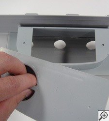 A drain tile access port for services and maintenance
