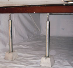 Crawl Space Jacks for Sagging Montreal Crawl Space