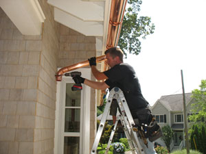 Gutter installation in Sandy Hook