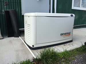 Generac standby generator installed in Rochester
