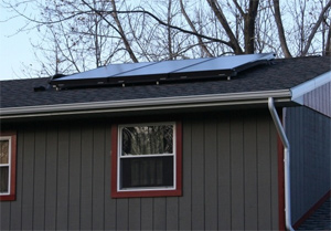 Solar thermal system installed in Webster, The Finger Lakes